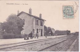 86 - VILLIERS PRES DE NEUVILLE - LA GARE 1907 - Sonstige Gemeinden