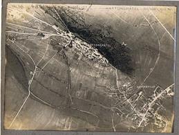 PHOTO Photographie Aérienne Guerre 1914-1918 HATTONCHATEL Cliché  Militaria Aviation Militaire - Guerre, Militaire