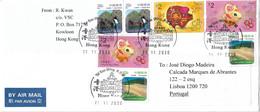 Hong Kong Cover To Portugal - Cartas