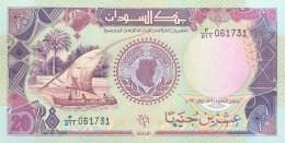 Sudan 20 Pounds, P-47 (1991) - UNC - Soedan