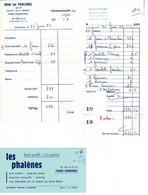 Factures ( Lot 2 Unités+ Carte Visite ) - LES PHALENES  Mont Blanc CHAMONIX France 1978 Et 1981 - Burgerlijke Brieven Zonder Portkosten