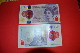 UK Great Britain 20 Pounds 2018 UNC P- 396 Polymer ( 2020 ) - 20 Pounds
