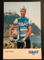 Erwin Nijboer - SEAT Orbea - 1986 - Carte / Card - Cyclists - Cyclisme - Ciclismo -wielrennen - Cycling