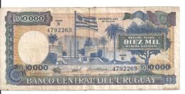 URUGUAY 10000 NUEVOS PESOS ND1987 VF P 67 B - Uruguay