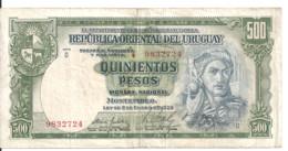 URUGUAY 500 PESOS ND1939 VF P 40 C - Uruguay