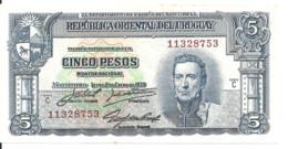 URUGUAY 5 PESOS L.1939 AUNC P 36 B - Uruguay