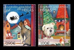 Greece 2020 Mih. 3096/97 Christmas. Fauna. Cat And Dog MNH ** - Unused Stamps