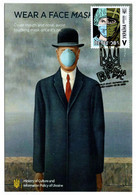 """Ukraine Anti COVID-19 Postcard """"WEAR A FACE MASK"""" With COVID Stamp/Postmark - Ziekte"""