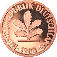 Monnaie, République Fédérale Allemande, 2 Pfennig, 1988, Karlsruhe, Proof - 2 Pfennig