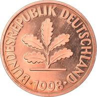 Monnaie, République Fédérale Allemande, 2 Pfennig, 1998, Hambourg, FDC - 2 Pfennig
