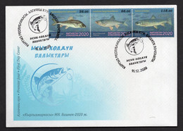 Kyrgyzstan 2020 Fauna. Fishes Of Issyk-Kul. FDC** - Kyrgyzstan