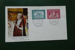 C5/  FDC  VATICAN VEXACTO SAECULO A NICOLAI CARD  CUSANI OBITU 1964 TIMBRE OBLITERE - FDC
