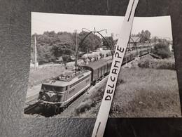 SNCF : Photo Originale Anonyme 12,5 X 17,5 Cm : BB 8500 Dans Les Landes - Treinen