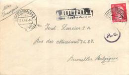 Allemagne - Lettre Du 19/04/1944 Vers Bruxelles - Différentes Griffes Et Cachets A Voir - Brieven En Documenten