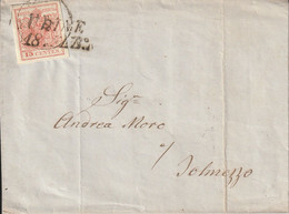 Autriche Lettre Udine 1855 - Covers & Documents