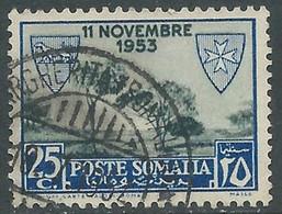 1954 SOMALIA AFIS USATO LEBBROSARI 25 CENT - RD45-6 - Somalië (AFIS)