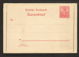 Allemagne -Kartebrief - Michel K9 II - Postwaardestukken