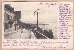 X14179 ⭐ TROUVILLE 14-Calvados Descente Vue Prise Du CALVAIRE 1901 à Juliete PELLERIN Neuilly-sur-Seine - ? N°27 - Trouville