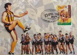 100e Anniversaire De La Ligue De Football (Footy - Australian Football League, Hawthorn The Hawks) - Covers & Documents