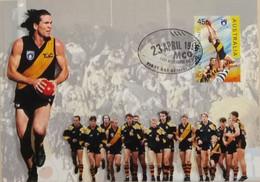100e Anniversaire De La Ligue De Football (Footy - Australian Football League, Richmond The Tigers) - Covers & Documents