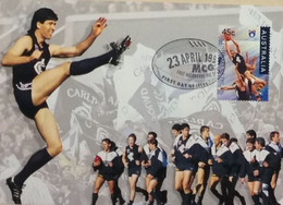 100e Anniversaire De La Ligue De Football (Footy - Australian Football League, Carlton The Blues) - Covers & Documents