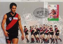 100e Anniversaire De La Ligue De Football (Footy - Australian Football League, Essendon The Bombers) - Covers & Documents