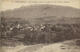 Yenne ( Savoie) Vue Générale ,la Dent Et Le Mont Du Chat 1497m D'Altitude Recto Verso - Yenne