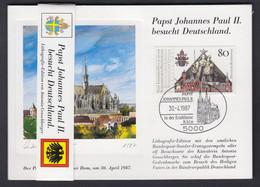 Bund 11 Stück Lithografie Kunstkarten Mit Papst Johannes Paul II. 80 Pf Mit ESST - Briefe U. Dokumente