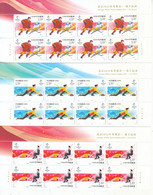China 2020-25 Beijing 2022 Winter Olympic Game Ice-sports 5v Half Sheet A - Winter 2022: Peking