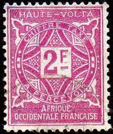 Haute Volta Obl. N° Taxe 19  - Ornements Le 2f Lilas-rose - Oblitérés