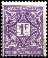 Haute Volta Obl. N° Taxe 18  - Ornements Le 1f Violet - Oblitérés