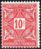 Haute Volta Obl. N° Taxe 12  - Ornements Le 10c Rose - Oblitérés