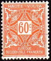 Haute Volta Obl. N° Taxe 17  - Ornements Le 60c Orange - Oblitérés