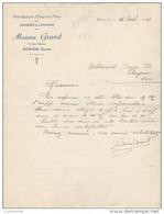26 ROMANS  COURRIER 1947 Manufacture D' EMPORTE PIECES Pour CHAUSSURES Maurice GRAND Pour GERMAN à FLAYOSC  / R12 - 1900 – 1949