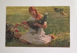 """Cartolina Artistica """"Prediletti"""" Di A.D. Campestrini, Viaggiata Da Milano Per Trea 1924 - 1900-1949"""
