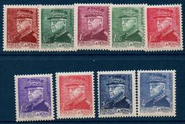 MON 1941 Portraits De Louis II   N° YT 225-233  ** MNH - Neufs