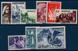 MON 1944   Fête De Sainte Dévote   N° YT 265-273  ** MNH - Neufs