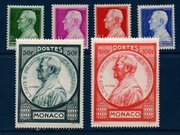 MON 1946   Prince Louis II   N° YT 281-286  ** MNH - Neufs