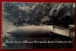 CPA CARTE PHOTO 54 MEURTHE ET MOSELLE GUERRE 1914-18 BOMBARDEMENT De NANCY OCTOBRE 1917 BOMBE AVION ALLEMAND - Nancy