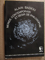 ALAIN BADIOU - MONDE CONTEMPORAIN ET DESIR DE PHILOSOPHIE - CAHIER DE NORIA  N° 1 - REIMS 1992 - Psicología/Filosofía