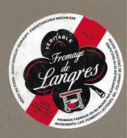 ETIQUETTE De FROMAGE.. FROMAGE De LANGRES.. SCHERTENLEIB à SAULXURES ( Haute Marne 52) - Cheese