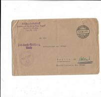 Brief Aus Marienberg Nach Berlin 1938  Reichsarbeitsdienst - Covers & Documents