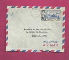 Lettre De 1954 Pour La France - YT N° PA 17 D' AOF - 10ème Anniversaire De La Libération - Storia Postale