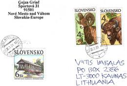 Slovakia 2001 . Cover To Lithuania (Fauna). - Other