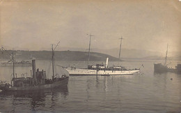 Greece - CORFU - French Navy Auxiliary Aviso Hélène - REAL PHOTO 6 November 1916 - Publ. Unknwon - Grecia