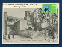 ⭐ France - Carte Maximum - Premier Jour - FDC - Groupement Philatélique De Cavaillon - 1981 ⭐ - 1980-89