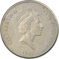 Monnaie, Nouvelle-Zélande, Elizabeth II, 5 Cents, 1987, TTB, Copper-nickel - Nuova Zelanda