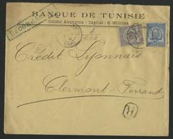 TUNISIE N° 24 + N° 25 Recommandé De Tunis En 1903 (voir Description) - Covers & Documents