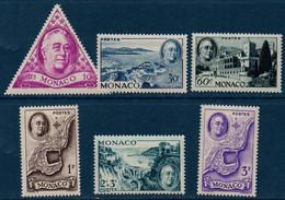 MON 1946   Hommage Au Président FD Roosevelt.   N° YT 295-300  ** MNH - Neufs