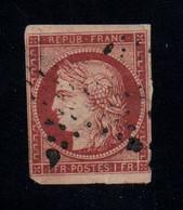 France 6A Rouge Brun Oblitéré Avec Défauts Aminci Et Trou D'épingle Cote 2700€ - 1849-1850 Ceres